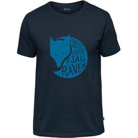 Fjällräven Forever Nature Fox t-shirt Heren blauw
